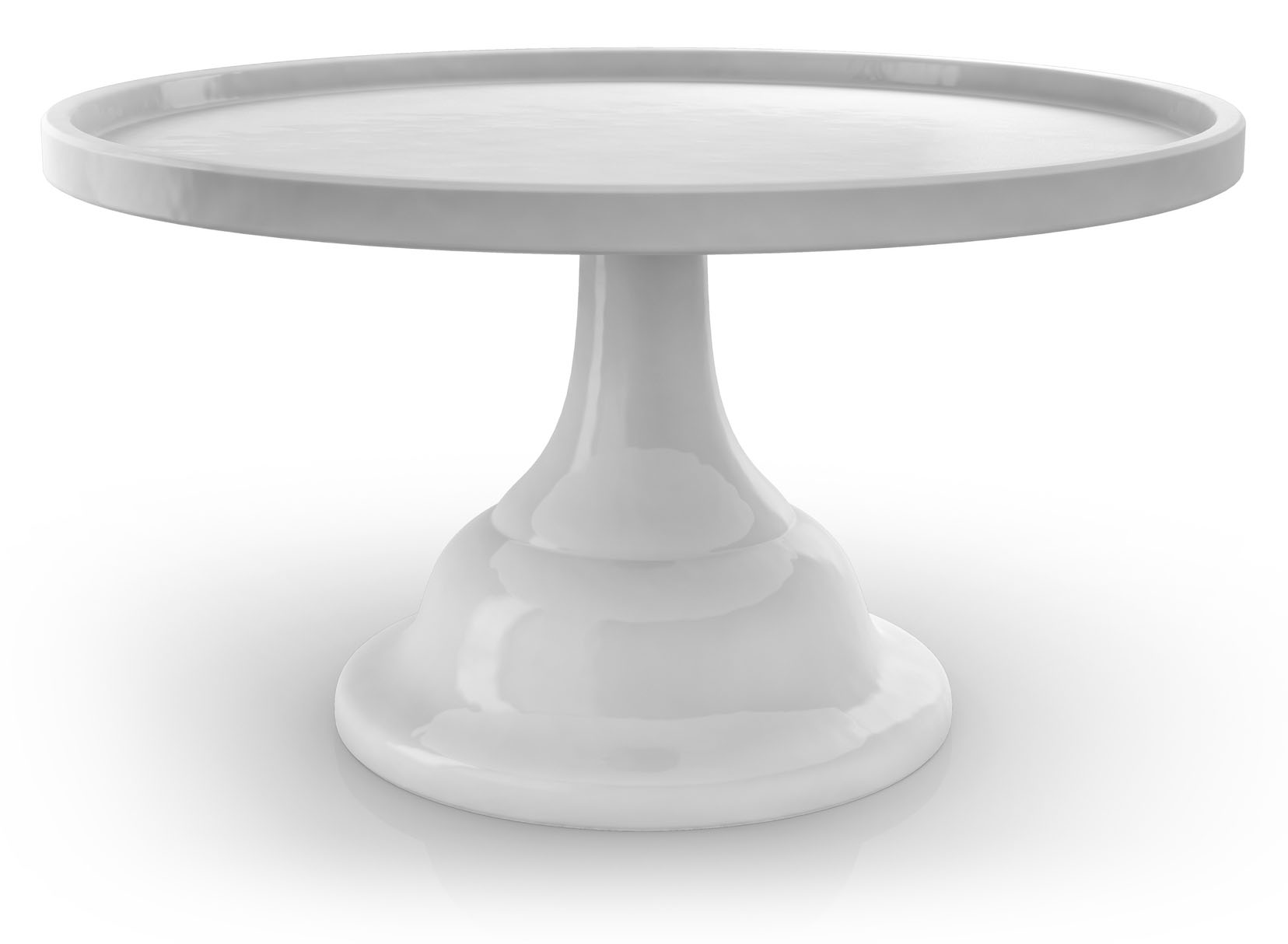 Empty Cake Cookie Stand on White Background